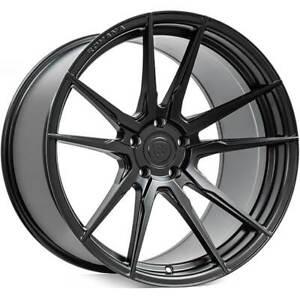 "(4) 19/20"" Staggered Rohana Wheels RFX2 Matte Black Rims (B9)"