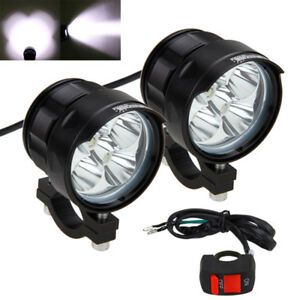 2x50w 5xxml t6 led motorrad zusatzscheinwerfer fernlicht scheinwerfer mit switch ebay. Black Bedroom Furniture Sets. Home Design Ideas