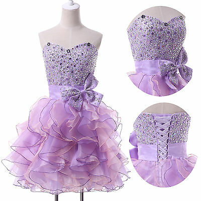 2015 Formal GRAD Evening Ball Gown Party Bridesmaid Short PROM Quinceanera Dress