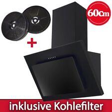 Dunstabzugshaube 60 cm kopffrei Wandhaube Kaminhaube Dunstabzug Glas schwarz PKM