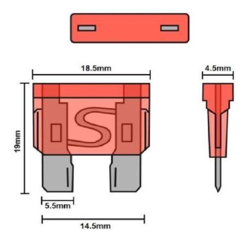 Replacement 12v Mini//Standard Blade Fuse Kit Mitsubishi L200 1996-2016