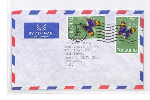 BQ152 1978 Tanzania Devon Great Britain Airmail Cover {samwells}PTS