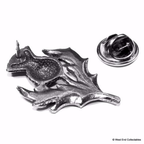 Scotland Emblem Rugby Scottish Thistle Pewter Pin Brooch Badge UK Hand Cast