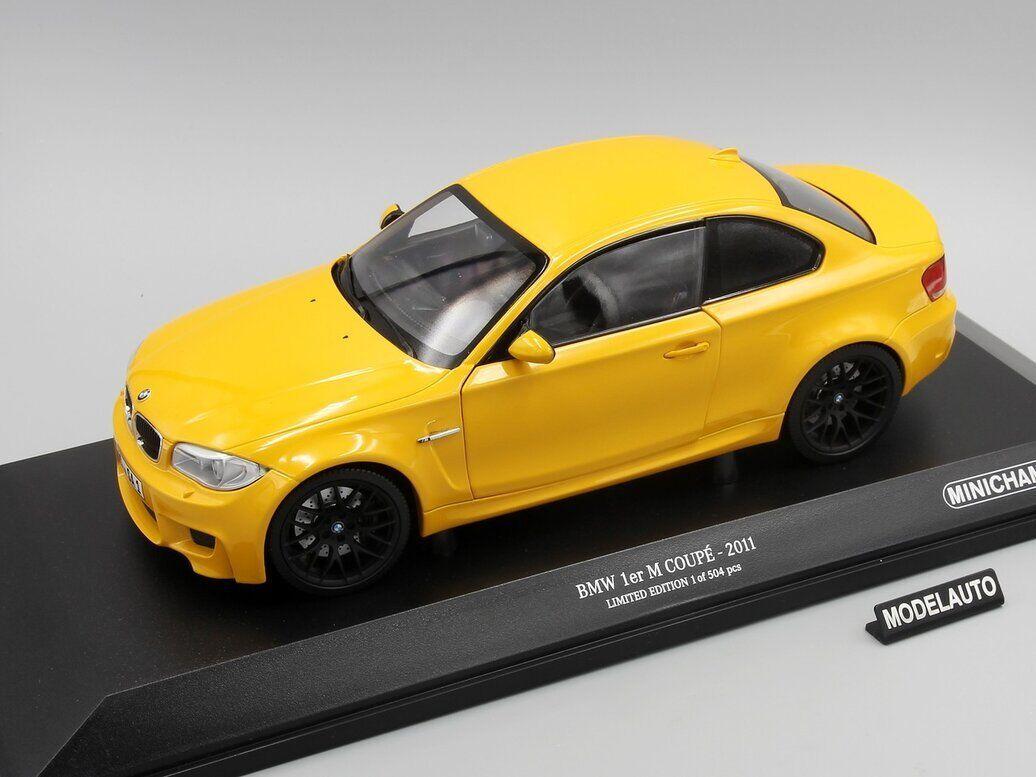 Minichamps 1 18 BMW 1er M Coupe 2011 amarillo
