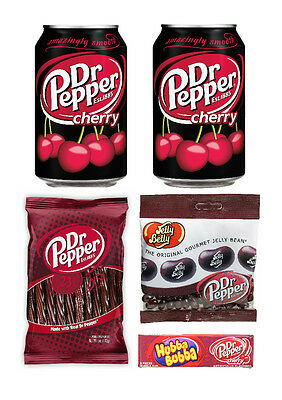 American Import Dr Pepper Candy Selection Jelly Beans, Twists, Hubba Bubba, Soda