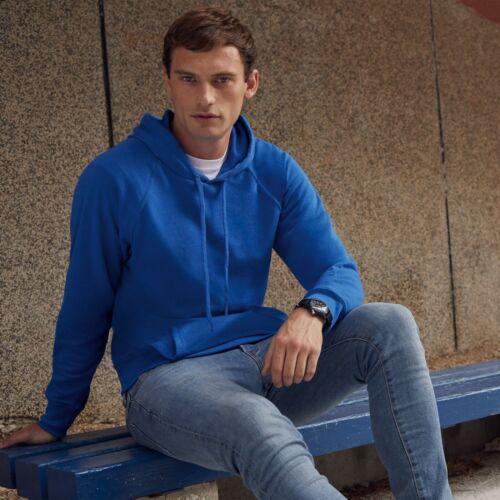 GENUINE FRUIT OF THE LOOM Classic Plain Hooded Sweatshirt Hoodie • 20 COLOURS
