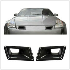 Left Carbon Fiber Style Air Vent Intake Duct Fit For Nissan 350Z Z33 2003-09 BK