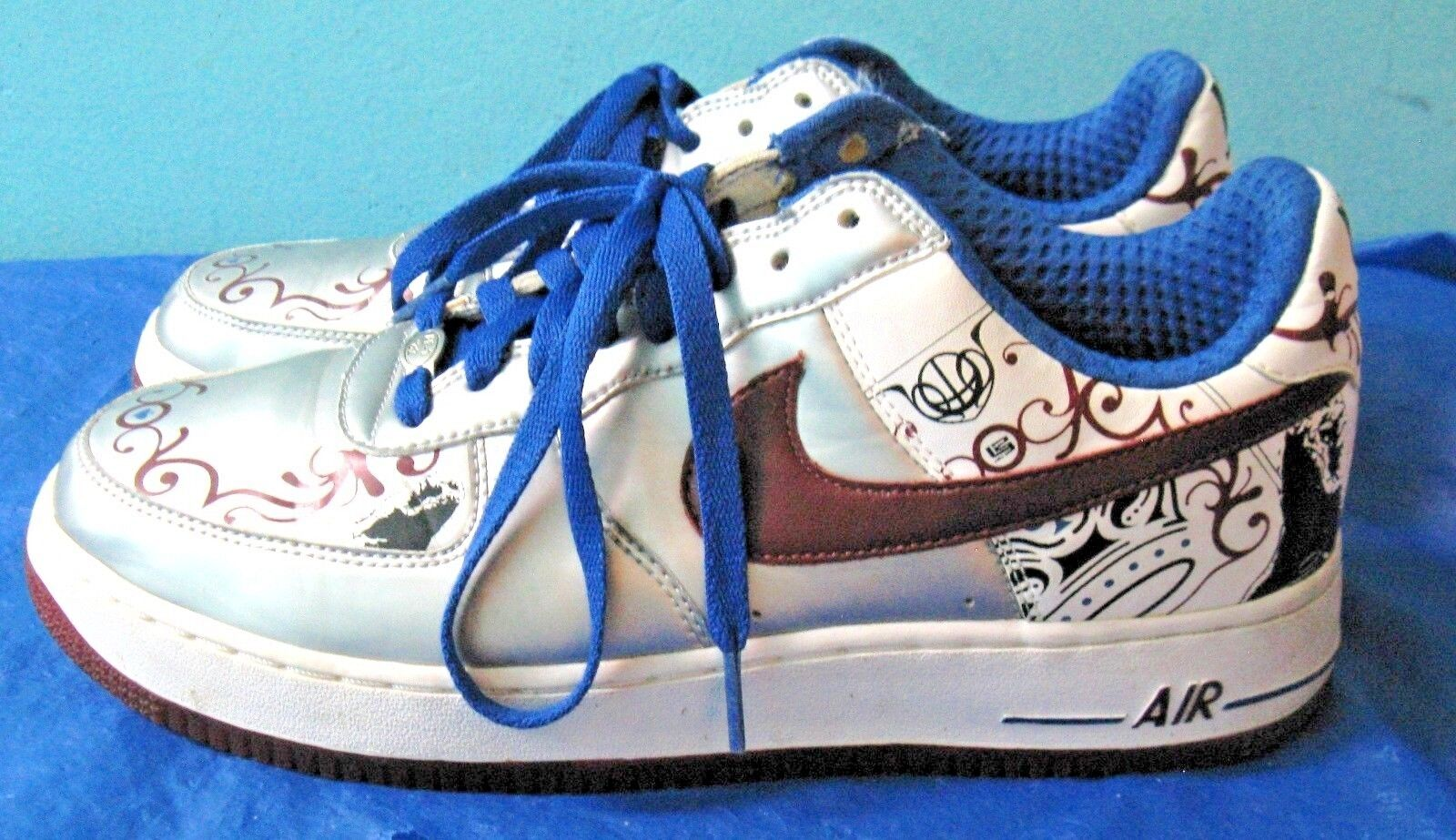 Nike LeBron James Air Force 1 AF1 Low Premium shoes 313985-061 (Sz 10)