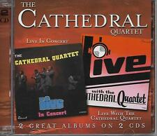 """THE CATHEDRAL QUARTET...""""LIVE IN CONCERT""""  &  """"LIVE WITH""""....2 ALBUMS ON 2 CD'S."""