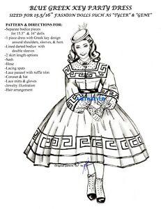 "BARBIE 11.5/"" doll dress Pattern BBQ CARREEN Scarlett/'s Sister GONE WITH THE WIND"
