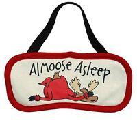 Lazy One Sleep Mask Eye Cover Dark Travel Almoose Asleep Red Beige Moose