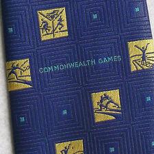 MANCHESTER 2002 TIE COMMONWEALTH GAMES VINTAGE RETRO SPORT BLUE YELLOW RETRO