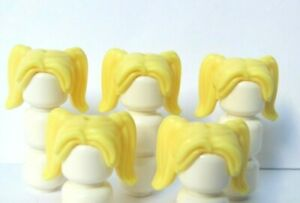 Lego Female Girl Minifigure Figure Hair Wig  Long Blonde Yellow Over Shoulder