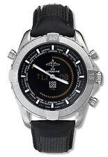 ESQ Movado 07301133 Men's 43mm Stainless Steel Aerodyne Black Leather Watch