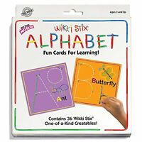 Wikki Stix Alphabet Fun Cards For Learning , New, Free Shipping
