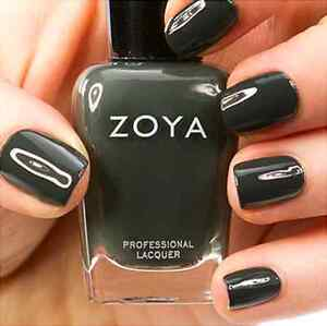 Image Is Loading Zoya Zp631 Noot Dark Grey With Blue Green