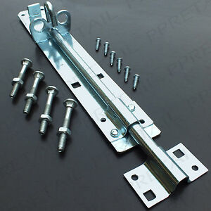 Large Heavy Duty Padbolt ★10 Quot ★ Metal Gate Shed Door Slide