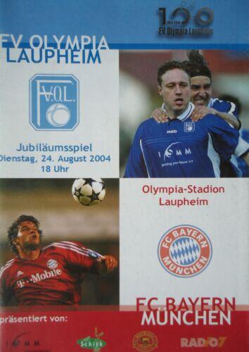 Programm 24.8.2004 FV Olympia Laupheim Bayern München