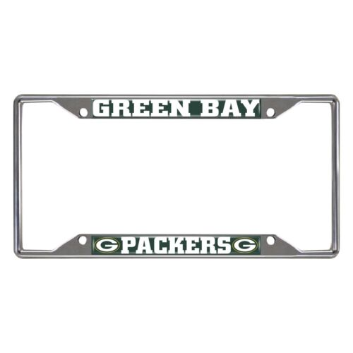 NFL Green Bay Packers New Metal Chrome License Plate Frame Delivery 2-4 Days