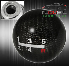 Universal 2 Round Ball Type Mt Manual 5 Speed Shift Knob Black Carbon Fiber Fits More Than One Vehicle