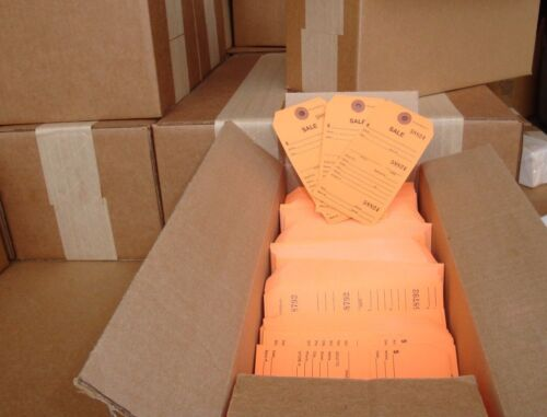 TEAR-OFF REPAIR TAG 1000 NUMBERED SALES HANG TAGS PERFORATED STUB CLAIM TAG
