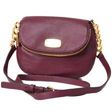 Michael Kors Small Bedford Leather Crossbody Phone Bag Purse $248 Merlot Dk Red
