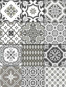 Image Is Loading Wall Tile Sticker Kitchen Bathroom  Decorative Decal Patchwork