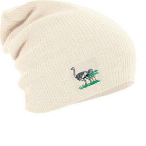 Slouch-Long-Beanie-Winter-Cap-with-Embroidered-Design-Ostrich-55335-Natural