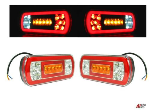 2x 12v//24v Glow-Trac Led Neon Rear Combination Tail Lamp Lights Truck Trailer