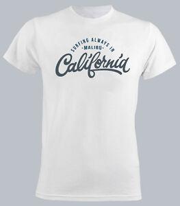 Men Funny California Shirt Sunny Malibu T Holiday Surfing Beach c4A3Rq5Lj