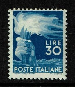 Italy SC# 488, Mint Never Hinged, expert signed with cert - Lot 020517