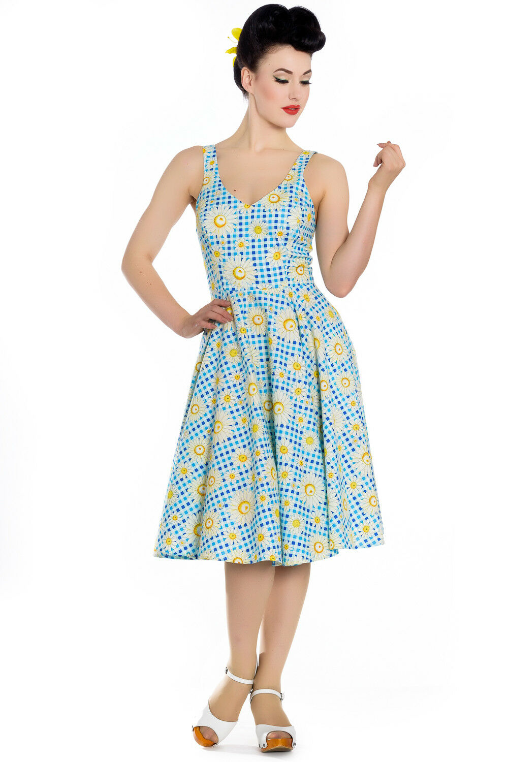 0c8ae6ed5d096f Hell Bunny Sunshine 50's Rockabilly Pinup Swing Vintage Day Dress ...