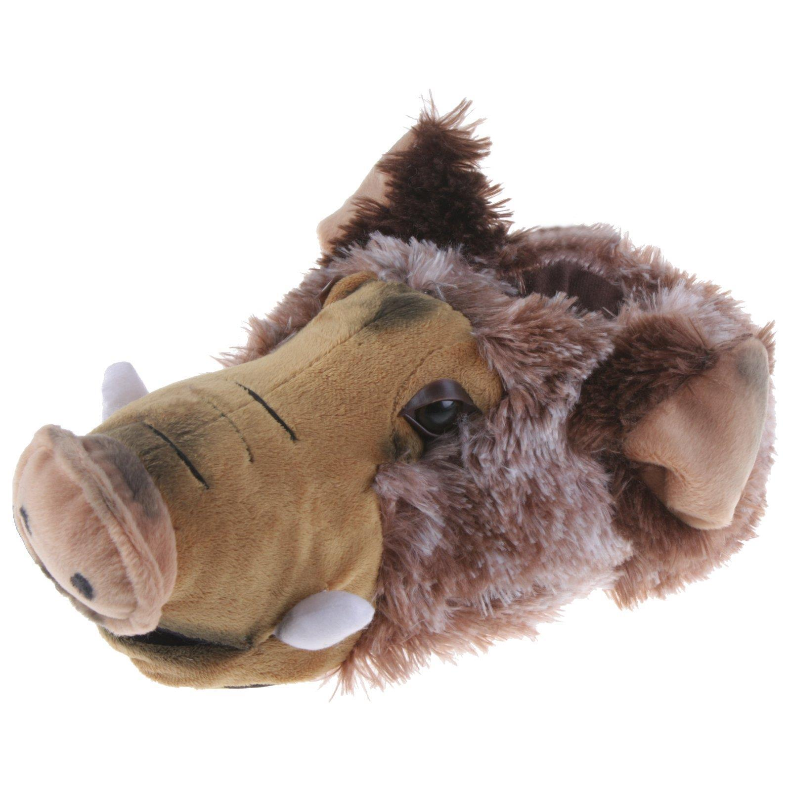 Cerdo salvaje B.E cerdo animal zapatillas de casa pantufla señores zapatillas marrón 36-47