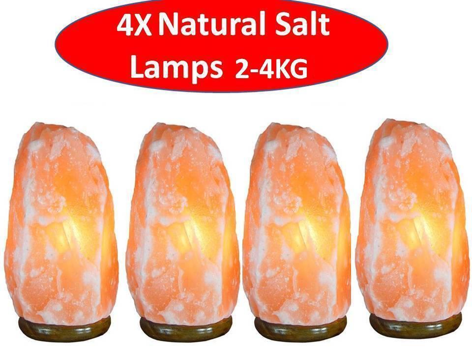 4 xnatural Himalayano rosa Sale Sale Sale Grosso Lampada (Lampadina & UK Spina incluso) 2-4Kg 4b94f3