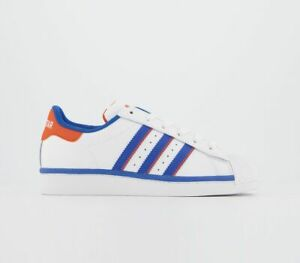 Adidas-Superstar-Baskets-Blanc-Bleu-Orange-Baskets