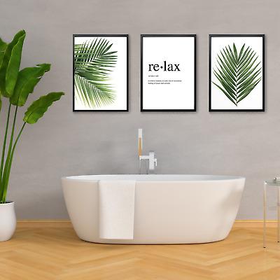 Botanical Wall Art Prints Bathroom Wall Decor Ebay