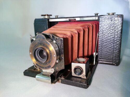 Kodak Folding Pocket Brownie Model B 6x9 Camera Red Bellows