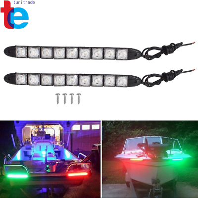 Safety Red and Green Boat Navigation Boat Bow LED Lighting Waterproof Stripe Kit