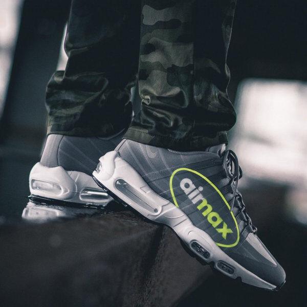 Nike Air Max Max Max 95 NS GPX Big LOGO Grey VOLT Neon AJ7183 001 Men's 13 Running shoes 67e85d
