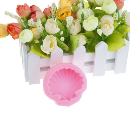Fashion Big Sea Shell Shape 3D Silicone Fondant Cake Mold Tools Bakeware new.