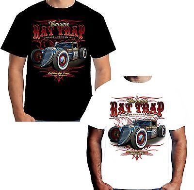 Velocitee Mens Vest Ratty Rods Hot Rat Rod Rockabilly 32 Ford 3 Window W17477