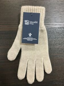 Men-039-s-Pure-Cashmere-Gloves-Johnstons-of-Elgin-Made-in-Scotland-Cream