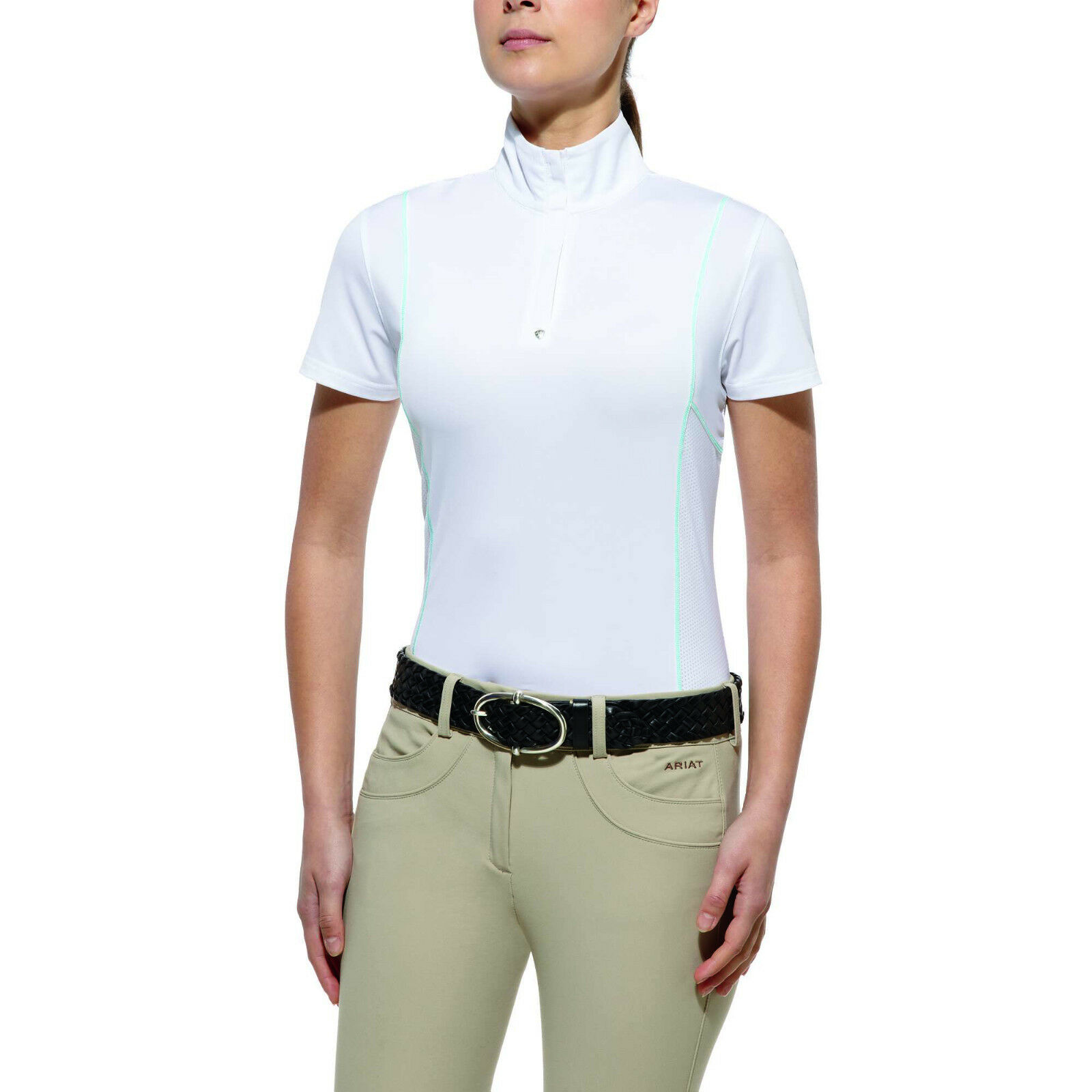 ARIAT - Women's Cambria 1 4 Zip Top - White - ( 10010490 ) - New
