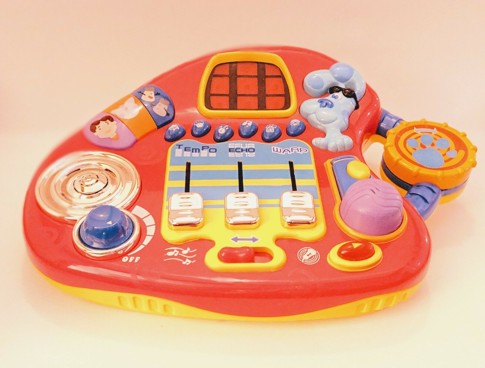 Vintage Fisher-Price Blau's Clues Electronic Mixin' Music Studio Player 2001