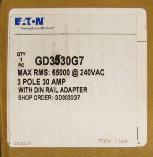 EATON CUTLER HAMMER GD3035G7 Type GD 22K Breaker with DIN Rail Adapter GD3035