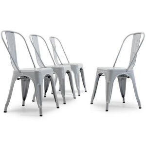 Modern-Kitchen-Set-of-4-Dining-Chairs-High-Back-Gray-Metal-Dining-Chair-Retro