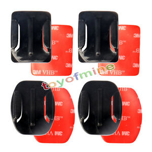 2-x-Flat-2-x-Curved-Adhesive-Sticky-Mount-For-GoPro-Hero-2-3-3-amp-4-Go-Pro