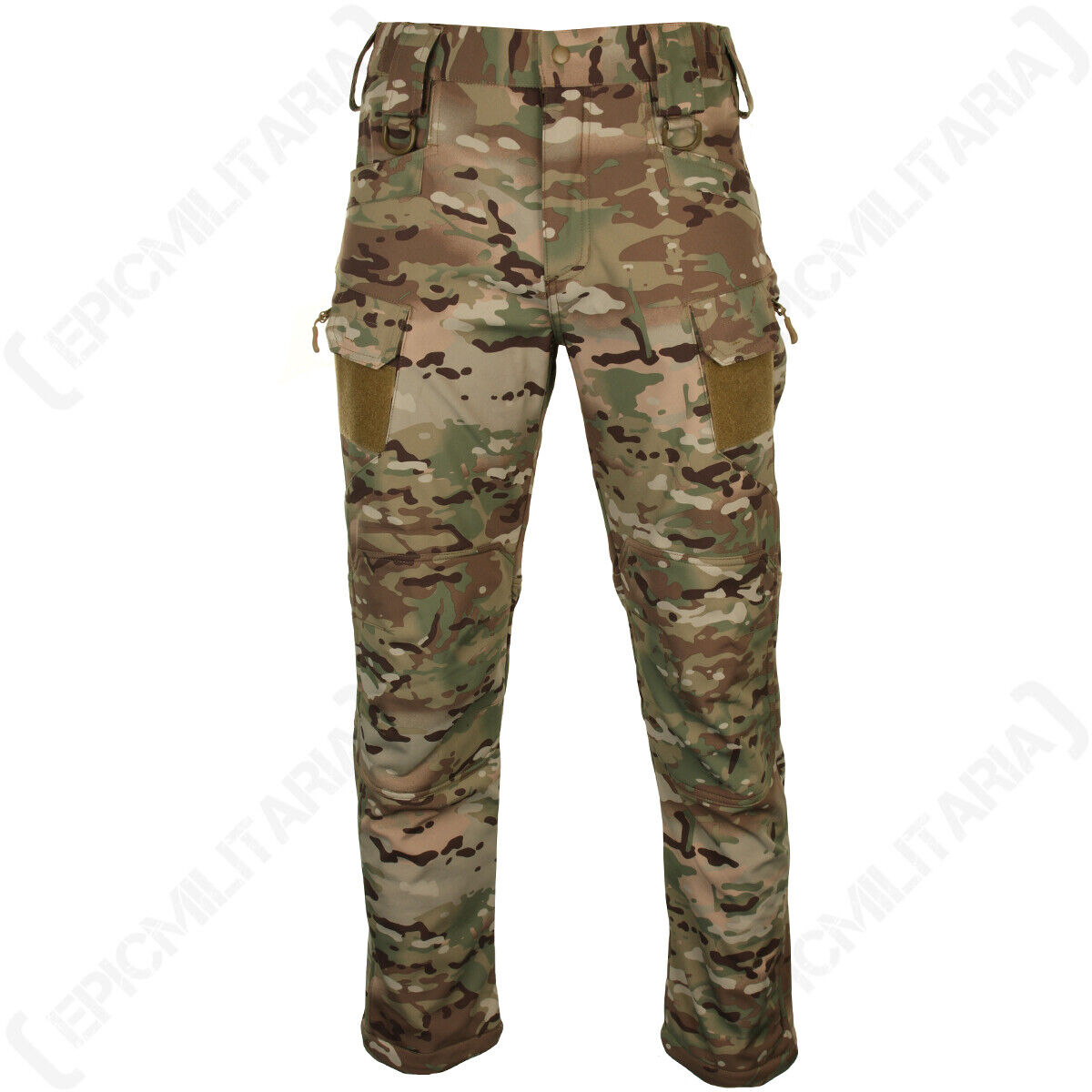 Softshell Trousers - Multitarn Camo - Pants Outdoor Water-Repellent Army New