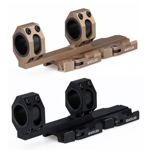 QD Scope Extended Rings Mount Top Rail 30mm 1 inch Ring Recon Black