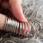 Lot 100pc Metal Key Holder Split Rings Keyring Keychain Keyfob Accessories D20mm